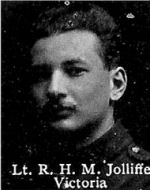 Photo of Reginald Jolliffe– From: The Varsity Magazine Supplement published by The Students Administrative Council, University of Toronto 1916.  