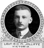 Photo of Reginald Jolliffe– From: The Varsity Magazine Supplement Fourth Edition 1918 published by The Students Administrative Council, University of Toronto.   Submitted for the Soldiers' Tower Committee, University of Toronto, by Operation Picture Me.