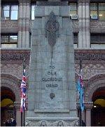 Hôtel de ville de Toronto – Le nom du Soldat Kentner est inscrit sur la plaque commémorative du 204e Bataillon (Beavers) qui se trouve à l'intérieur de l'ancien hôtel de ville de Toronto, rue Queen, Toronto, Ontario.