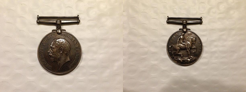 Medal– WWI service medal.