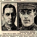 Newspaper Clipping– These photos of Toronto Officers in the casualty lists were published in the Toronto Star on September 4th, 1918.