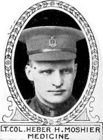 Photo of Heber Moshier– From: The Varsity Magazine Supplement Fourth Edition 1918 published by The Students Administrative Council, University of Toronto.   Submitted for the Soldiers' Tower Committee, University of Toronto, by Operation Picture Me.
