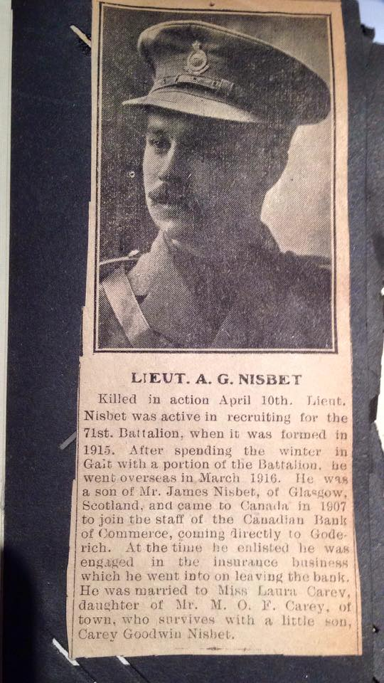 Newspaper Clipping– News article. Source: Heroes of Huron County Facebook Group.