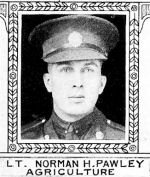 Photo of Norman Pawley– From: The Varsity Magazine Supplement Fourth Edition 1918