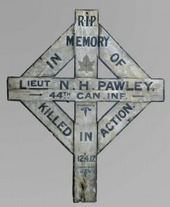 Artifact– Grave memorial at Canadian War Museum in Ottawa.