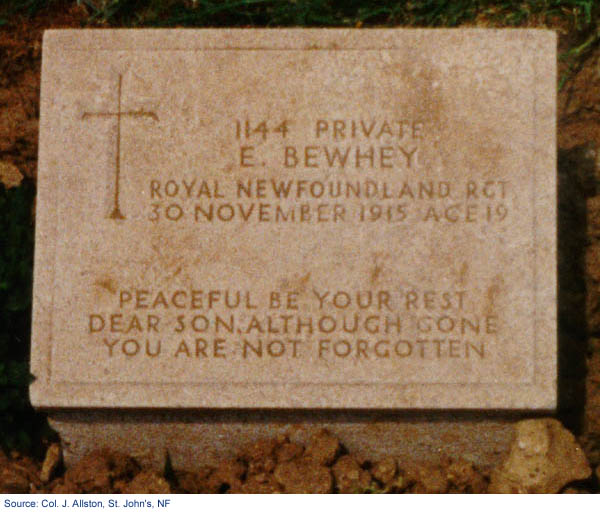 Gravestone of Edward Bewhey