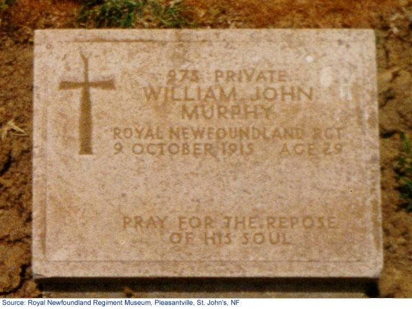 Gravestone of Private William John Murphy
