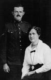 Group Photo– Photo of Pte. Clarence H. RIGGS and his sister, Iva RIGGS, probably from 1916