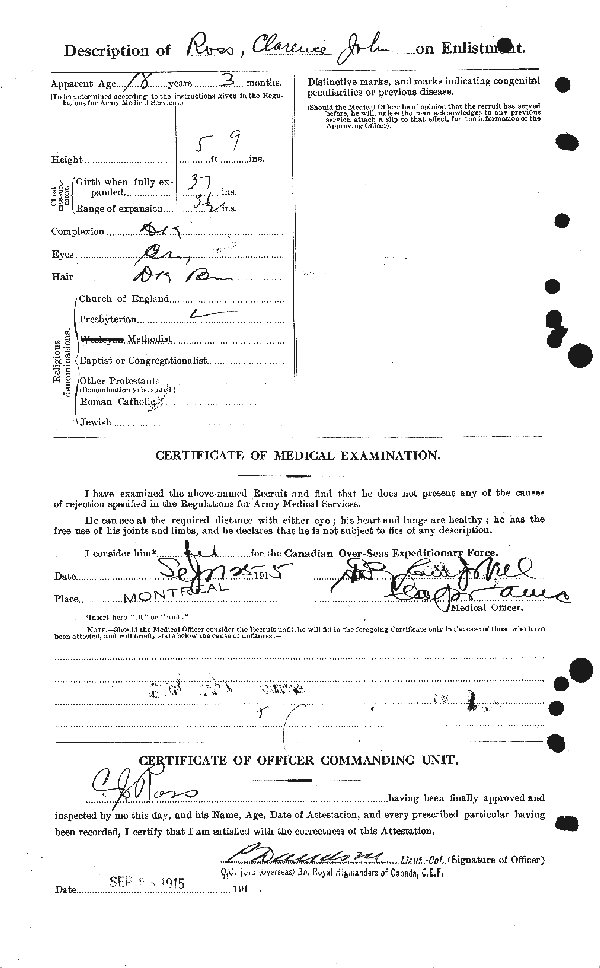 Attestation Papers (Reverse)