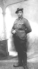 Photo of Clarence John Ross– According to his diary the picture was taken December 10, 1916 in Bruay. I believe it was Bruay-la-Buissière, Nord-Pas-de-Calais, France.  I have both a transcription and digital photos of his diary (approximately 50 pages). If you are interested I can send this as well.