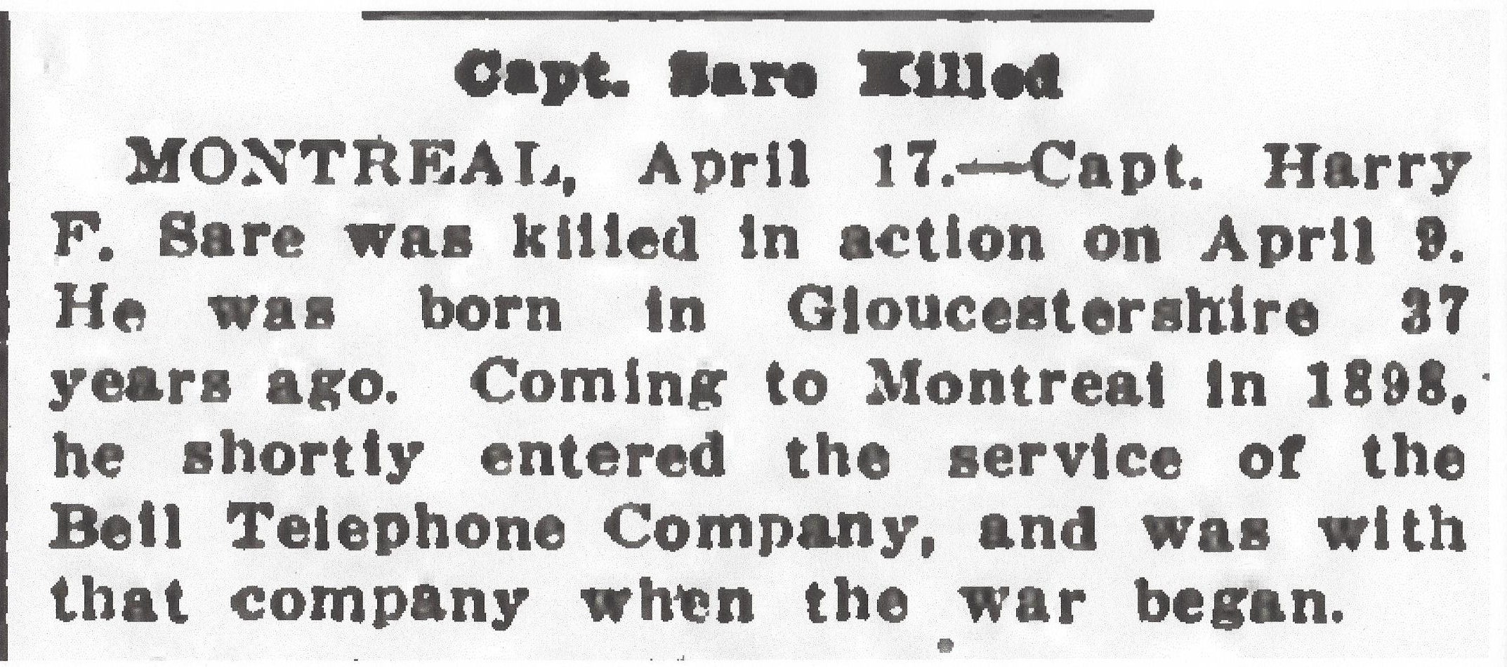 Newspaper clipping– From the Daily Colonist of April 18, 1917. Image taken from web address of http://archive.org/stream/dailycolonist59y111uvic#page/n0/mode/1up