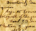 Letter– Direction to Edwin Savage's Grave