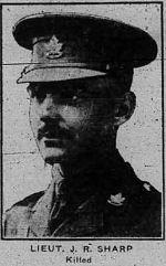 Photo of JAMES RICHARD SHARP– THE CALGARY DAILY HERALD JUNE 18 1917