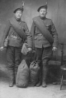 Group Photo– Image of James Arthur Taylor; on the right. Daniel C. MacIsaac is on the left.