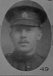 Photo of William Joseph Tierney– Pte William J Tierney from the December 1918 edition of  The Christmas Echo published in London Ontario -- And in the Morning
