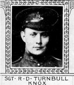 Photo of Reginald Turnball– From: The Varsity Magazine Supplement Fourth Edition 1918