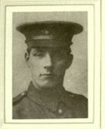 Photo of William Frank Hardy– In memory of the men would served in the Royal Newfoundland Regiment during World War I and did not return home.  Submitted for the project Operation: Picture Me.