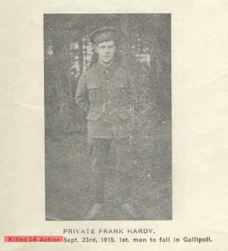 Photo of WILLIAM FRANK HARDY– Submitted for the project, Operation Picture Me