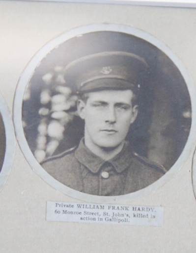 Photo of WILLIAM FRANK HARDY– In memory of the men and women from Newfoundland who went away to war and did not come home. From the  Rooms Archives and Museum St Johns Newfoundland. Submitted for the project, Operation Picture Me