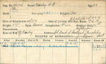 Record of Service Card (Front)– Record of Service Card (front).  Courtesy of 48th Highlanders of Canada Regimental Museum.  Submitted by 15th Bn Memorial Project Team.  DILEAS GU bRATH