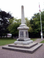 Memorial– Cenotaph is located in Centennial Park, Ganges, Salt Spring Island, British Columbia.