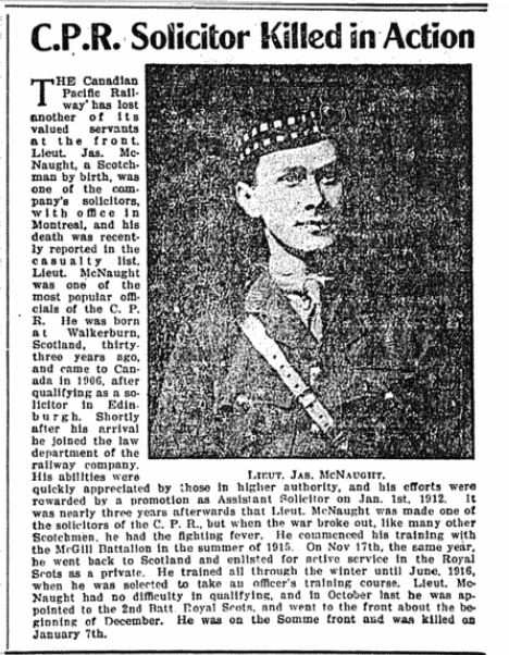 Newspaper Clipping– Red Deer News, February 14, 1917, Page 6