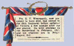 Newspaper Clipping– Ernest Tweddell Wearmouth enlisted in Victoria, British Columbia, on November 11th, 1914.  He indicated on his military attestation that he was a rancher.  Wearmouth was born in Croxdale, Durham, England.  In honoured memory.