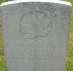 Grave Marker– Photo courtesy of Wilf Schofield, England, 2008