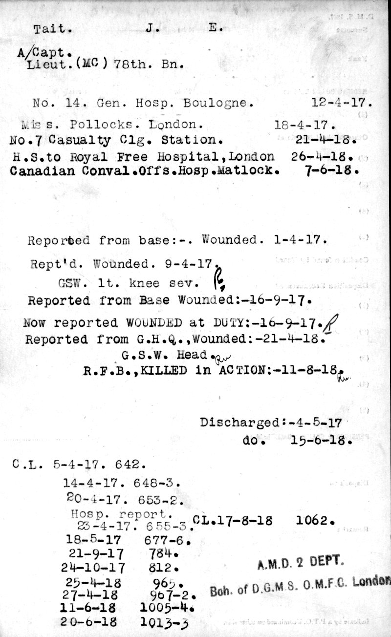 Medical Records (front)