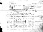 Service Records (front)– Casualty Form - Active Service