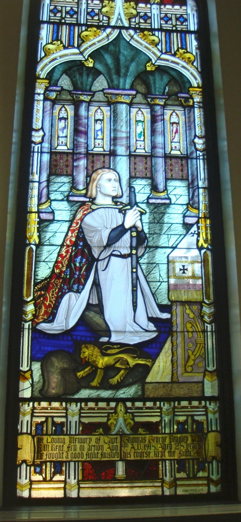Memorial– Memorial window to Captain Thomas George Beagley, Bibliothèque Mordecai-Richler (formerly the Anglican Church of the Ascension), 5434, avenue du Parc, Montreal
