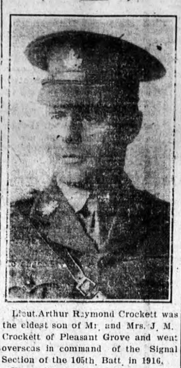 Photo of ARTHUR RAYMOND CROCKETT– From the Charlottetown PEI newspaper The Guardian. Submitted for the project, Operation: Picture Me