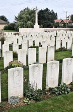 Bois Carre British Cemetery– The Bois Carre British Cemetery located on Vimy Ridge at the eastern edge of the town of Thelus, France. The cemetery is about 6 kilometres from Canada's Vimy Memorial.(John & Anne Stephens 2013)