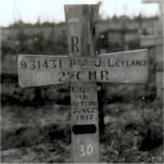 Grave Marker– Joseph Leyland - May 8 1888 to June 2 1917.  Husband to Alice Leyland.  Father to Clara and Gladys.
