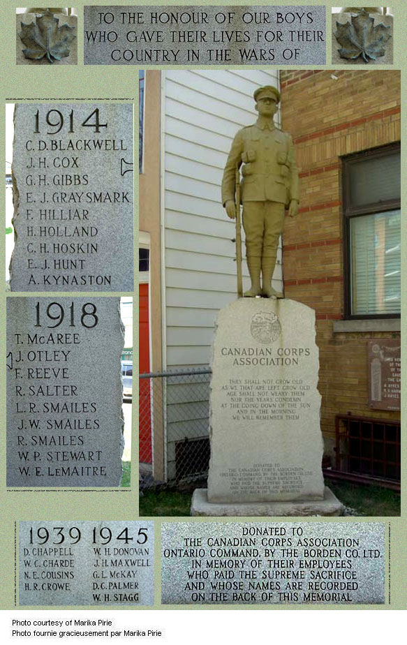 Borden Dairy War Memorial