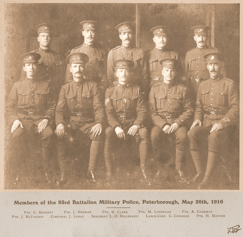 93rd Battalion Military Police– The 93rd Battalion Military Police, Peterborough, May 26th 1916