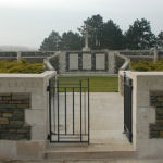 Lichfield Crater Thelus– Ellis Wellwood Sifton V.C. final resting place at Lichfield Crater Cemetery France