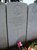 Grave Marker– Photo taken at 90th Anniversary of Vimy.  Photo taken by Tracey Measures