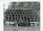 Group Photo– No.12 Platoon, 195th Battalion Pte. Roland Newth, is 4th row down, 3rd from right.