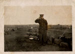 Photo of Roland Newth– Photo taken at Camp Hughes, on Oct.25, 1916, the day 195th Battalion left to go overseas.
