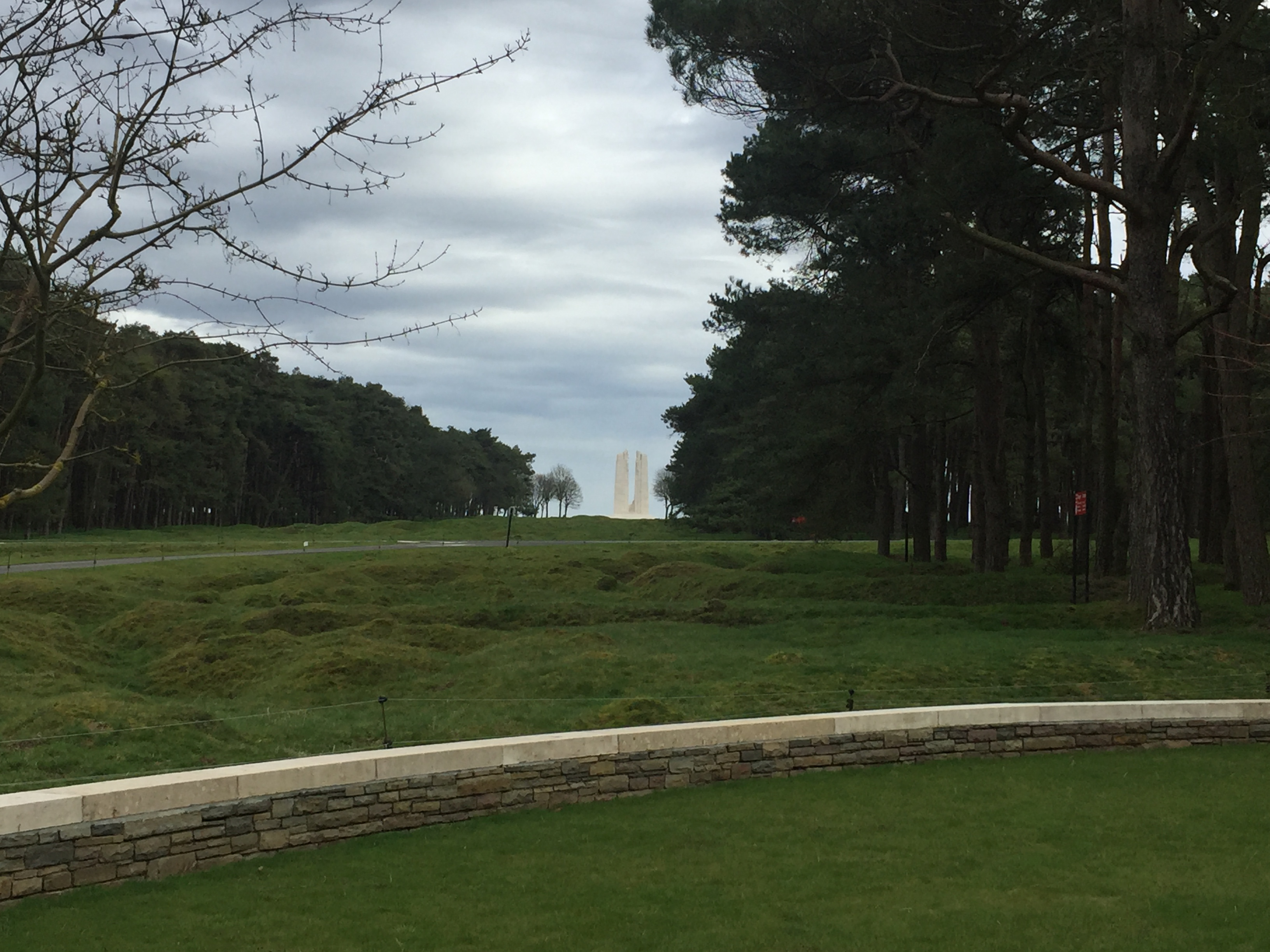 Vimy Memorial– The view from the Grave of Stanley Cecil Smith, Ladner BC