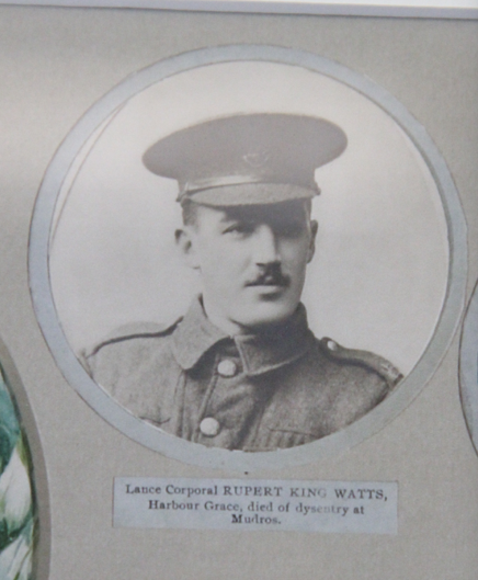 Photo of RUPERT KING WATTS– In memory of the men and women from Newfoundland who went away to war and did not come home. From the  Rooms Archives and Museum St Johns Newfoundland. Submitted for the project, Operation Picture Me