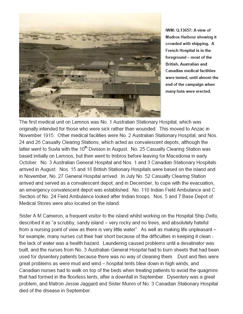 "Essay– Page 10 of ""The Joint Imperial War Museum / Australian War Memorial Battlefield Study, Tour to Gallipoli, September 2000."""
