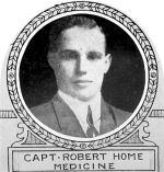 Photo of Robert Home– From: The Varsity Magazine Supplement published by The Students Administrative Council, University of Toronto 1918.   Submitted for the Soldiers' Tower Committee, University of Toronto, by Operation Picture Me.