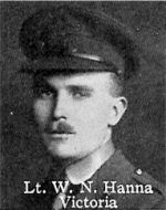 Photo of William Hanna– From: The Varsity Magazine Supplement published by The Students Administrative Council, University of Toronto 1916.   Submitted for the Soldiers' Tower Committee, University of Toronto, by Operation Picture Me.