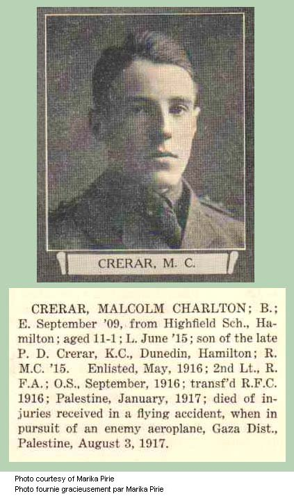 Photo of Malcolm Charlton Crerar