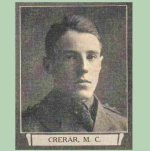 """Photo of Malcolm Charlton Crerar– From """"The War Book of Upper Canada College"""", edited by Archibald Hope Young, Toronto, 1923.  This book is a Roll of Honour including former students who served during the First World War."""
