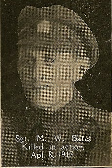 Photo of Mark Bates– From the book, Catholics of the Diocese of Antigonish, Nova Scotia and the Great War 1914- 1919.  Submitted for the project, Operation: PIcture Me