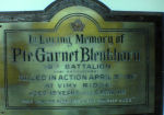 Plaque– This plaque is posted in my Mother's church.