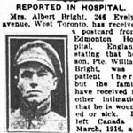 Newspaper Clipping (2)– Pte. Albert Edward Bright is mentioned in this article about his brother.